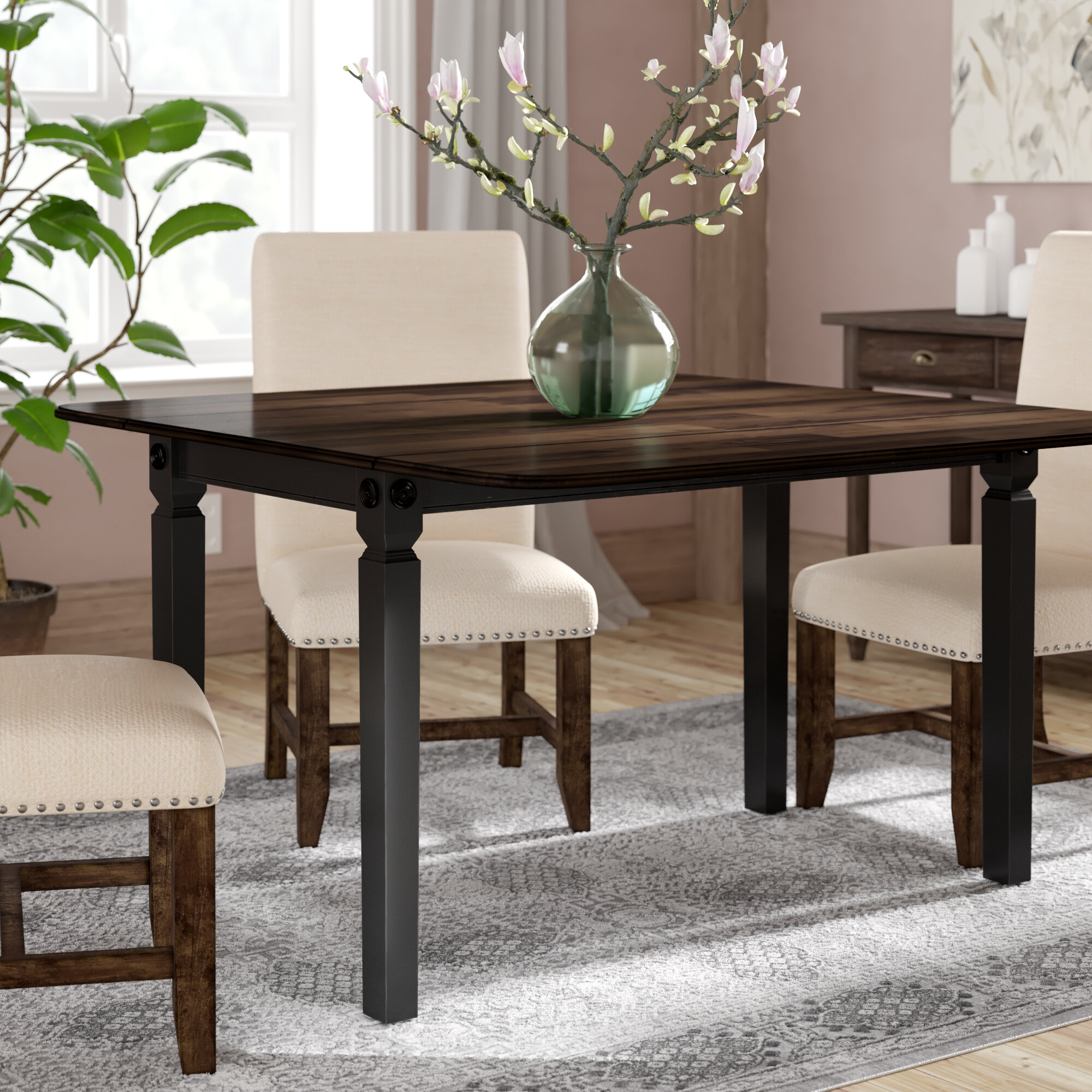 Gracie Oaks Marchan Drop Leaf Solid Wood Dining Table Reviews