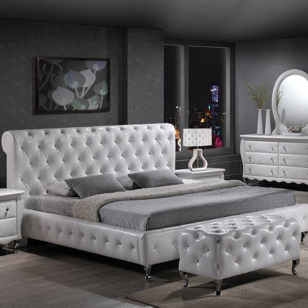 Adah Upholstered Platform Bed by Willa Arlo Interiors