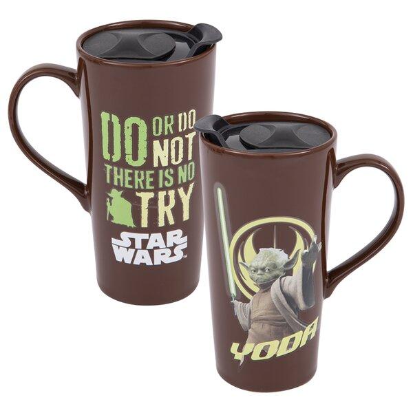 Star Wars Yoda Heat Reactive 2 Piece Travel Mug Set by Vandor LLC