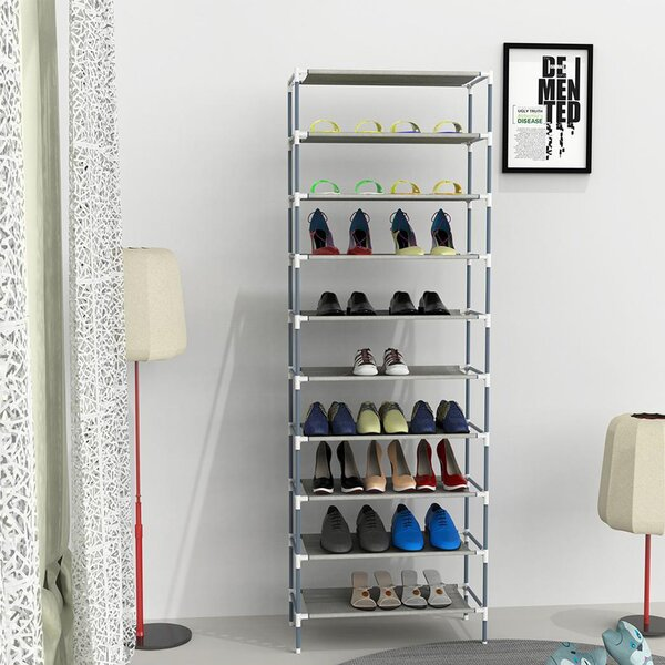 Sturdy 30 Pair Stackable Shoe Rack