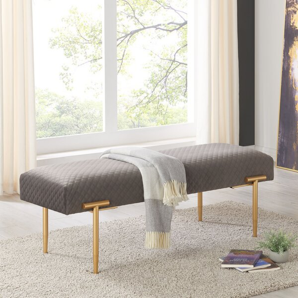 Claudius Upholstered Bench by Latitude Run