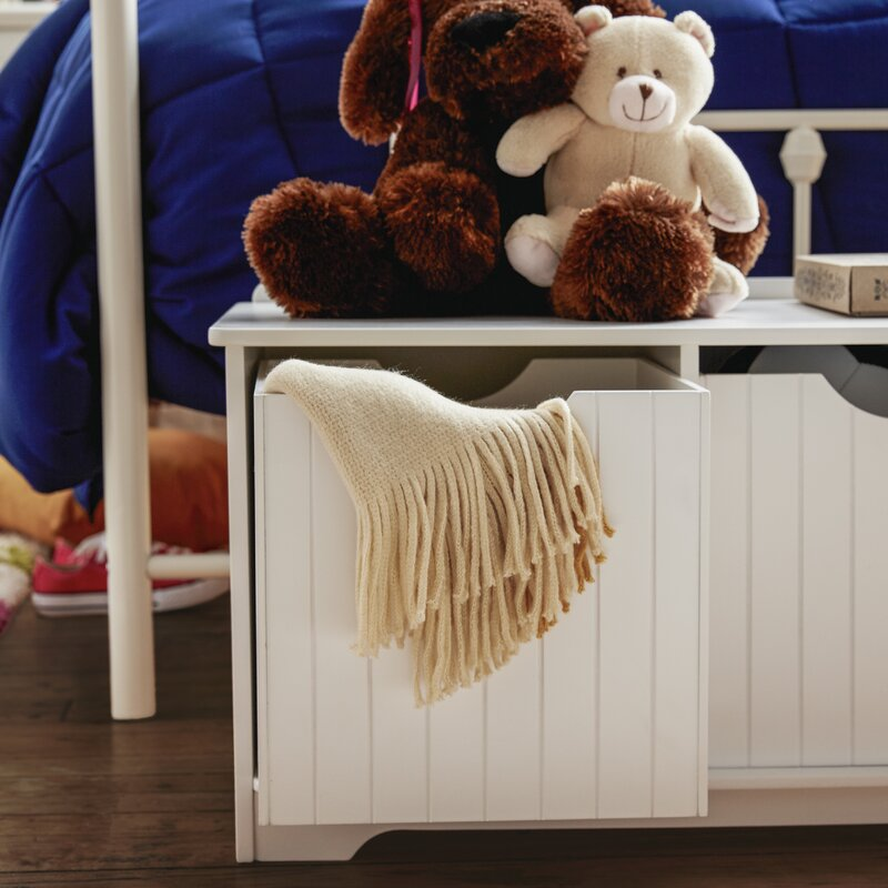Nantucket Storage Bench Cottage Style Solid Wood 15: KidKraft Nantucket Storage Bench & Reviews