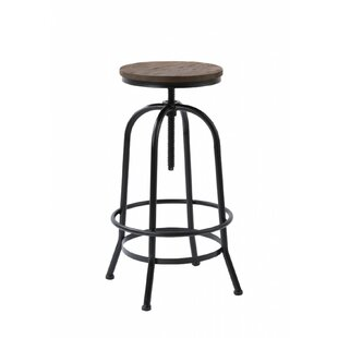 Farrell Adjustable Height Swivel Bar Stool by Williston Forge