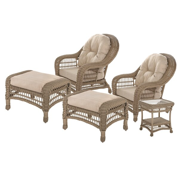 Muscogee Garden 5 Piece Seating Group with Cushions by August Grove