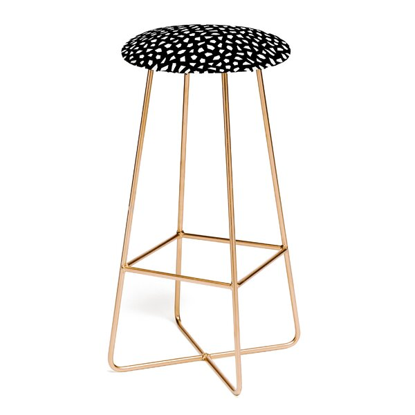 Kelly Haines Geometric Mosaic 30 Bar Stool by East Urban Home