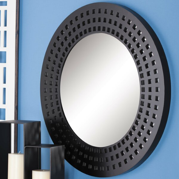 Wood Round Wall Mirror by Cole & Grey