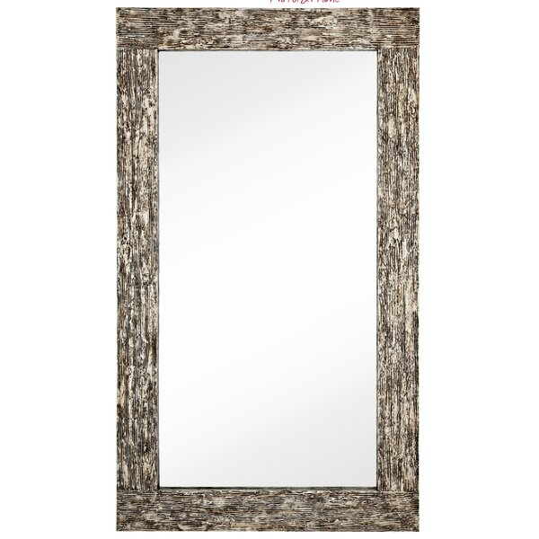 Large Rectangular Silver Leaf With Black Rub Wood Framed Wall Mirror by Majestic Mirror