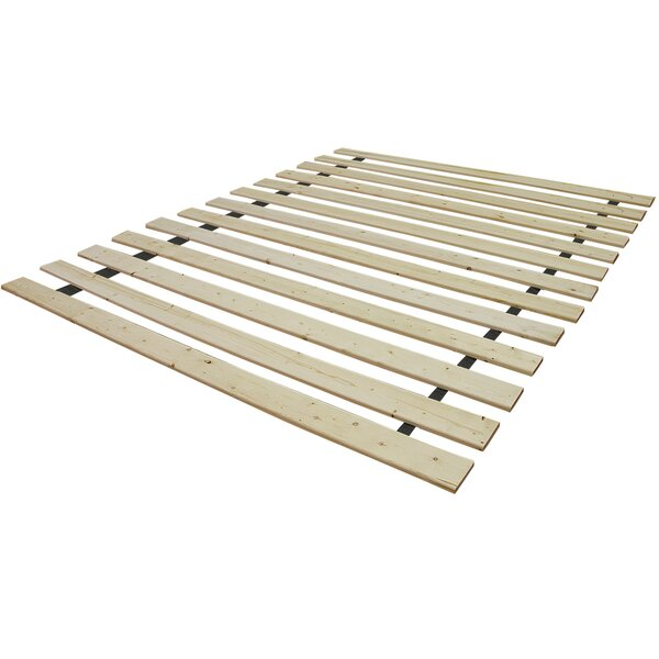 Attached Solid Wood Bed Support Slats - Bunkie Board by Alwyn Home