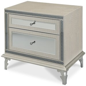 Hollywood Swank 2 Drawer Nightstand by Michael Amini (AICO)
