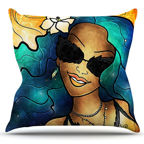 Let The Good Times Roll by Mandie Manzano Outdoor Throw Pillow by East Urban Home