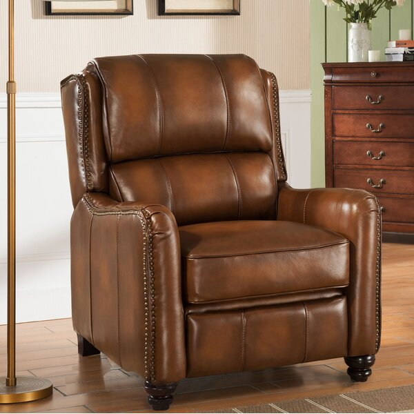 Aida Leather Manual Recliner by Darby Home Co