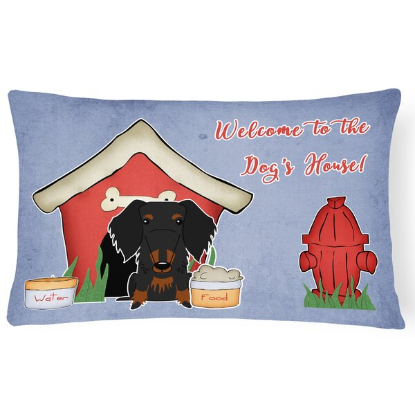 Wildlife Dog House Soild Rectangle Indoor/Outdoor Lumbar Pillow by East Urban Home