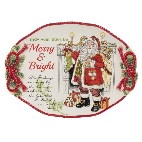 Night Before Christmas Serving Platter by Fitz and Floyd
