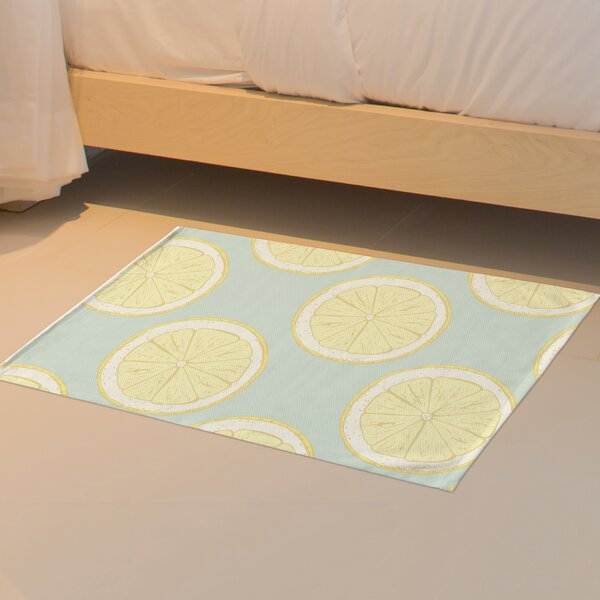 Harner Citrus Twist Floor Blue Area Rug by Brayden Studio