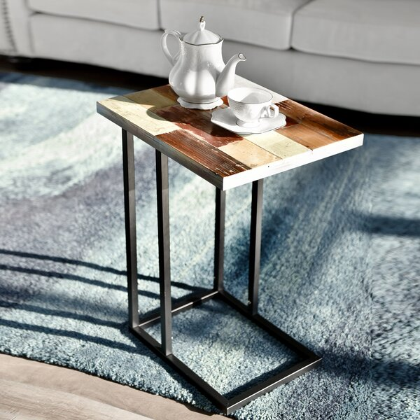 Denson C-Table Reclaimed Wood End Table By Union Rustic
