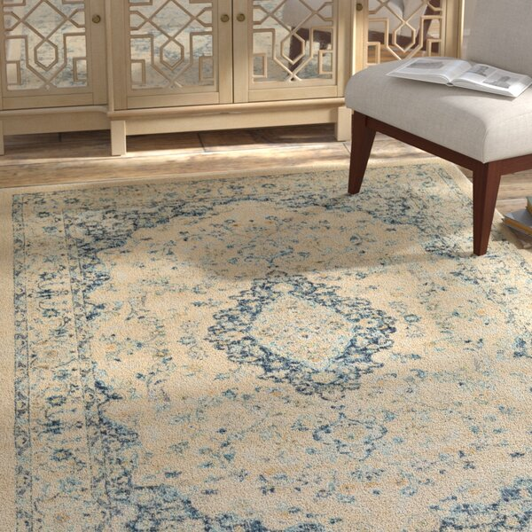 Weiss Vintage Floral Cream Area Rug by Bungalow Rose