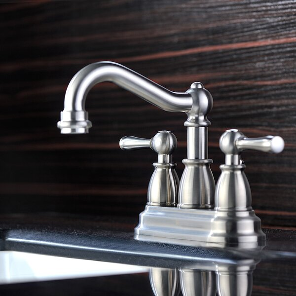 Edge Centerset Bathroom Faucet with Drain Assembly