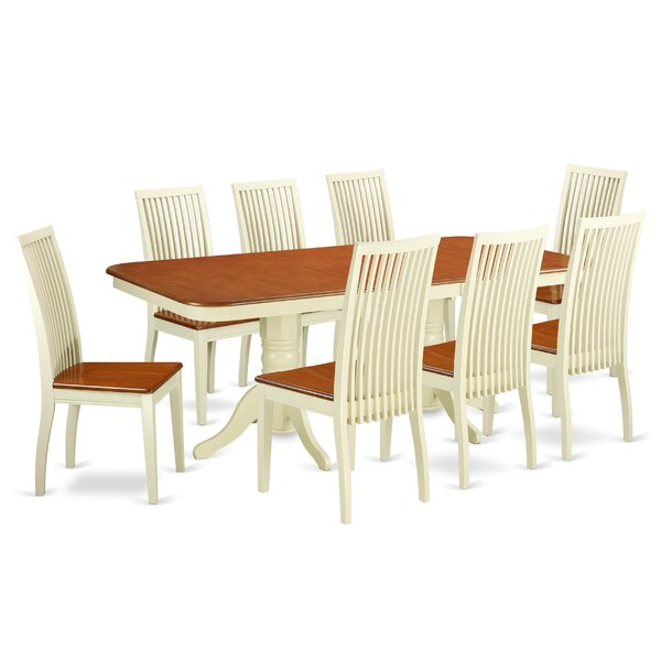 Pillsbury 9 Piece Solid Wood Dining Set by August Grove