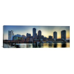 'Boston Skyline Cityscape' Photographic Print on Canvas by Zipcode Design