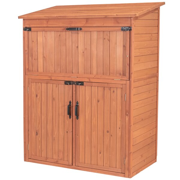 4 Ft. W X 2 Ft. D Solid Wood Lean-To Storage Shed By Leisure Season