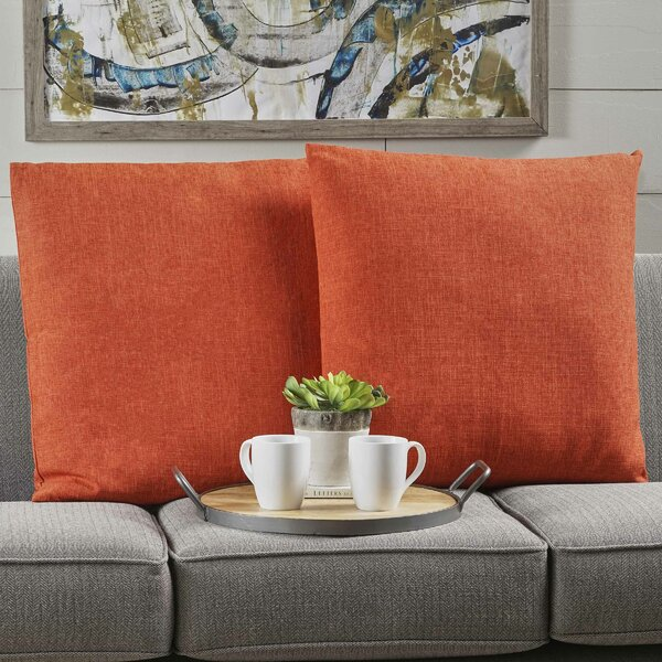 Barco Fabric Square Throw Pillow (Set of 2) by Wade Logan