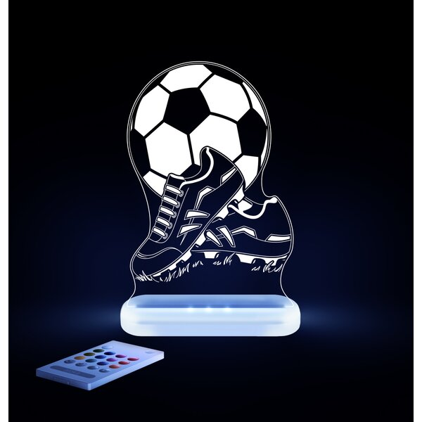 Aloka Starlights LED Soccer Ball and Shoes Night Light with Remote Control by Lumenico