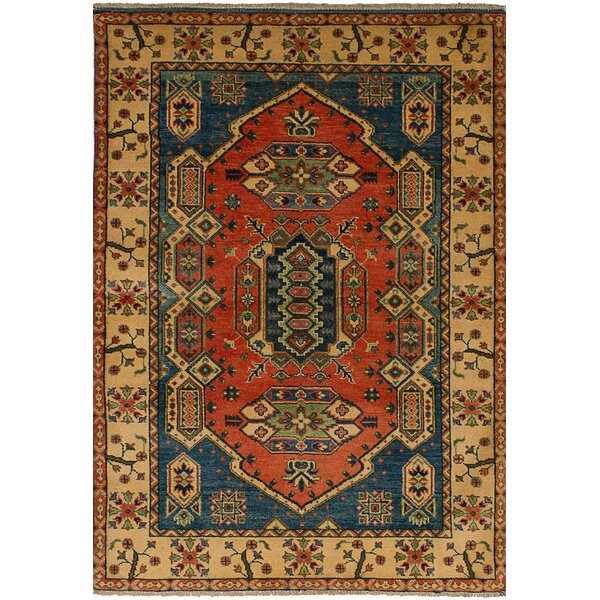 One-of-a-Kind Bernard Hand-Knotted Wool Dark Copper Area Rug by Bloomsbury Market