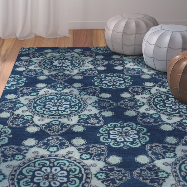 Rachida Hand Tufted Blue Area Rug by Bungalow Rose
