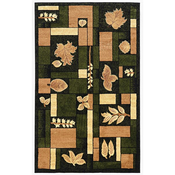 Fitchburg Green/Ivory Area Rug by Loon Peak