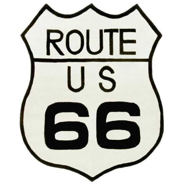 Playful Route 66 Black/White Tufted Area Rug by St. Croix