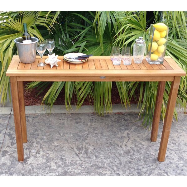 Santa Monica Teak Console Table by Chic Teak