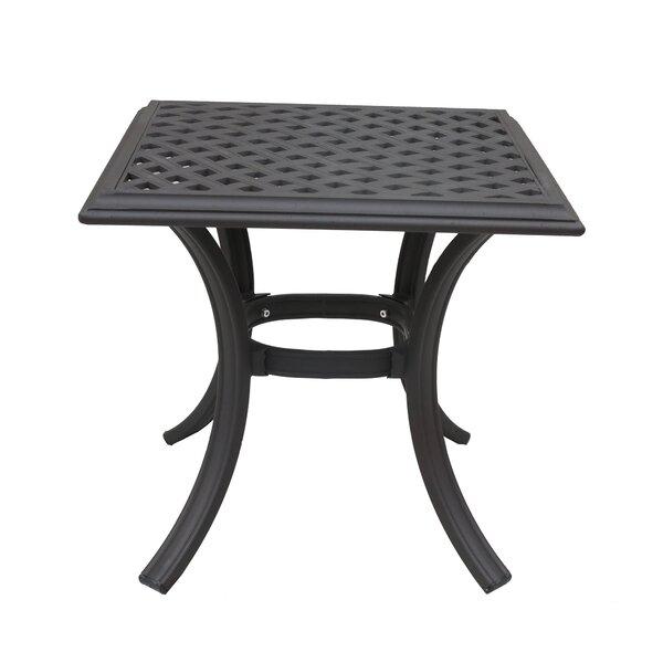 Wadena Aluminum Side Table by Fleur De Lis Living
