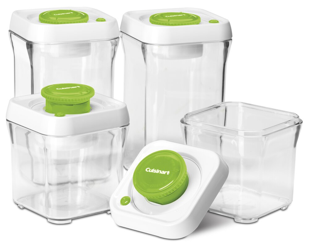 Fresh Edge Vacuum Seal 8 Container Food Storage Set