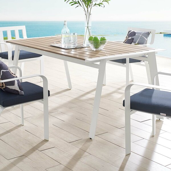 Anaya Patio Aluminum Dining Table by Rosecliff Heights