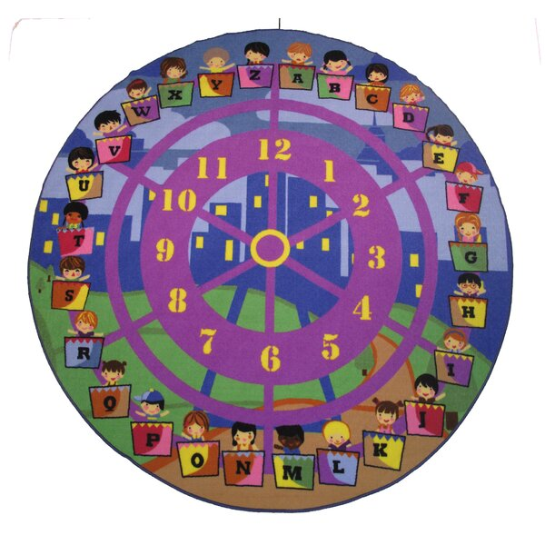 Fun Time Wheel of Fun Purple Area Rug by Fun Rugs