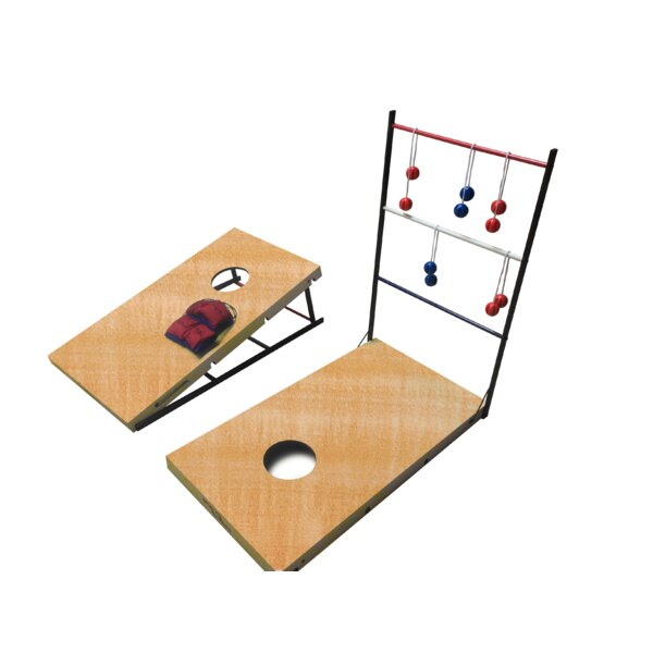 17 Piece Ladder/Cornhole Set by Sportsquad