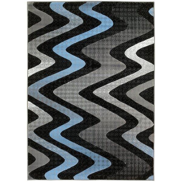 Acton Gray/Black Area Rug by Latitude Run