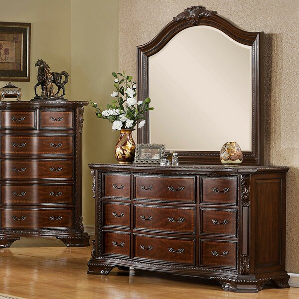 Fussell 9 Drawer Double Dresser by Astoria Grand
