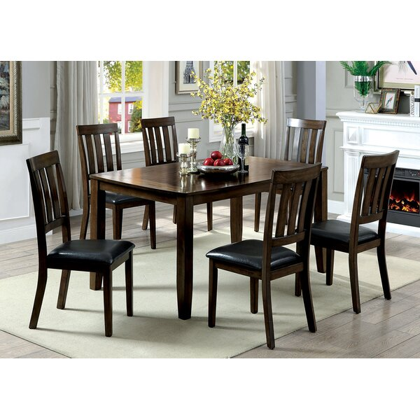 Devon Wooden 7 Piece Counter Height Dining Table Set by Millwood Pines
