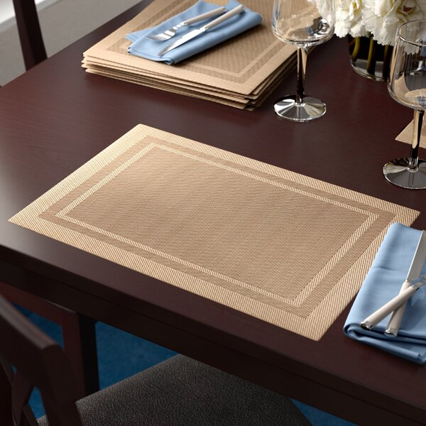 Highpoint Double Border Placemat (Set of 12) by Winston Porter