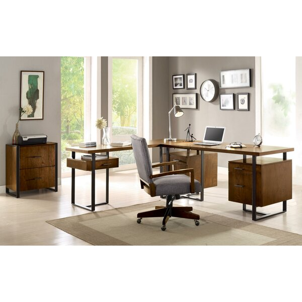 Lexus 3 Piece L-Shaped Desk Office Suite by Mistana