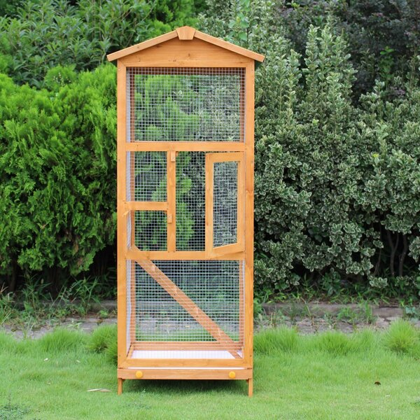 Fortuna Vertical Flight House Outdoor Aviary Bird Cage by Tucker Murphy Pet