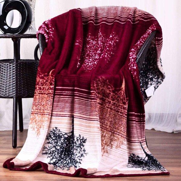Hiyoko Floral Ultra Plush Flannel Throw Blanket by JCP Hometex Inc.