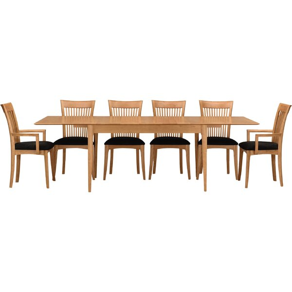 Sarah 7 Piece Extendable Solid Wood Dining Set by Copeland Furniture