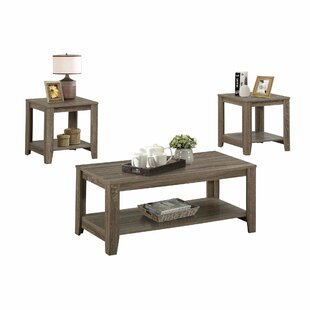 Jalen 3 Piece Coffee Table Set  sc 1 st  AllModern : selena 3 piece occasional table set - pezcame.com