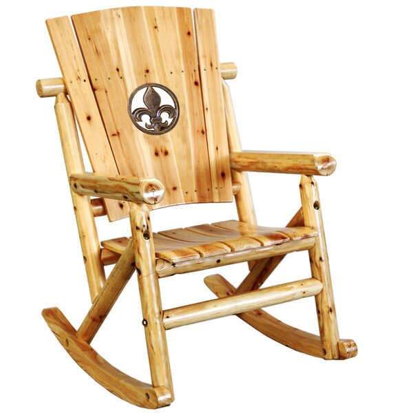 Alaniz Fleur de Lis Medallion Single Rocking Chair by Millwood Pines