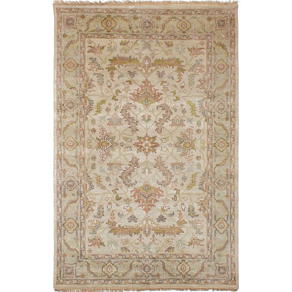Donoho Hand Knotted Wool Ivory Area Rug by Isabelline