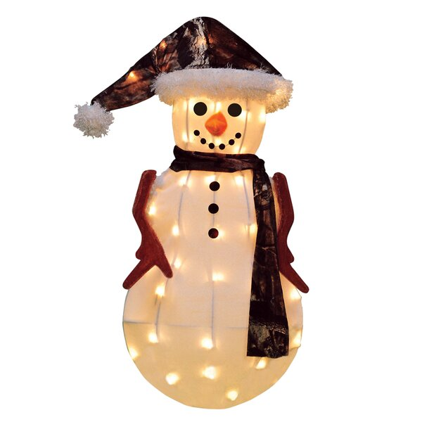 Candy Lane Snowman in Camo Christmas Decoration with Lights by Product Works