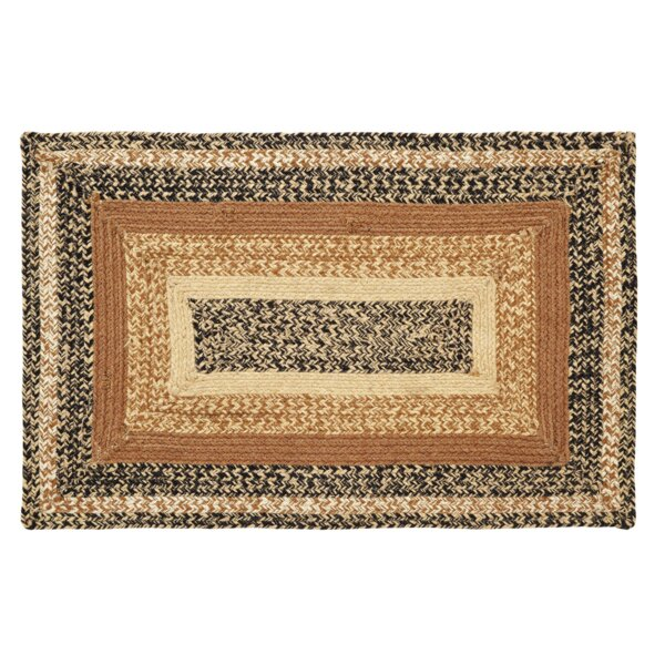 Millicent Black/Brown Area Rug by August Grove
