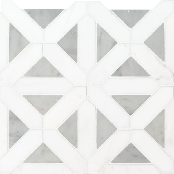 Bianco Dolomite 12 x 12 Marble Mosaic Tile in White by MSI